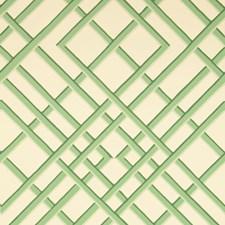 Celadon On Off-White Print Wallcovering by Brunschwig & Fils