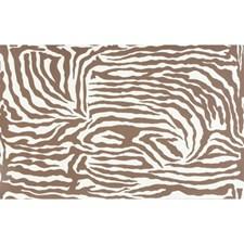 Brown On Cream Animal Wallcovering by Brunschwig & Fils