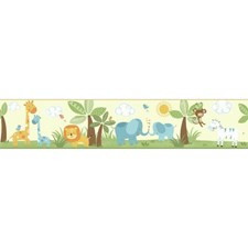 Cream/White/Green Animals Wallcovering by York