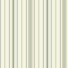Cream/Dark Green/Tan Stripes Wallcovering by York