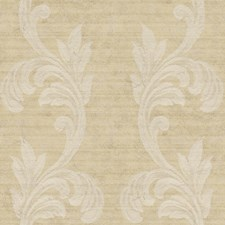Desert Tan/Light Brown/Silver Metallic Scroll Wallcovering by York