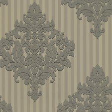 Pewter Stripe Wallcovering by Brewster
