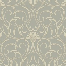 Gray/Brown Traditional Wallcovering by York