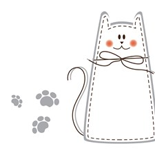 CR-62202 Cat Whiteboard Wall Decal by Brewster