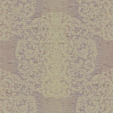 Lilac/Lavender/Gold Sheen Damask Wallcovering by York