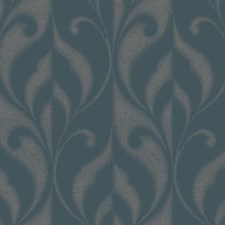 Iced Teal/Rich Cream Traditional Wallcovering by York