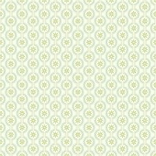 Cream/Sea Glass/Kiwi Floral Wallcovering by York