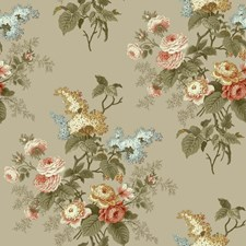 Taupe/Peach/White Floral Medium Wallcovering by York