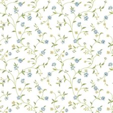 White/Light Blues/Yellow Greens Botanical Wallcovering by York