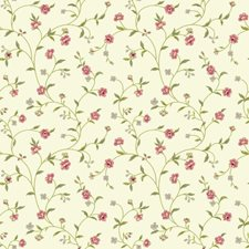 Rich Cream/Pinks/Olive Greens Botanical Wallcovering by York