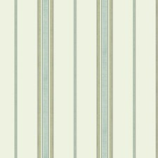 Off White/Aqua/Yellow Stripes Wallcovering by York