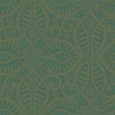 Dark Green/Teal/Tan Geometrics Wallcovering by York