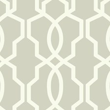 Light Grey/White Geometrics Wallcovering by York