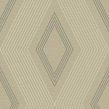 Light Taupe/Brown/Medium Grey Geometrics Wallcovering by York