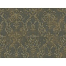 Deep Pearled Platinum/Bronze/Cool Tan Raised Prints Wallcovering by York