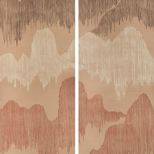 Blush Contemporary Wallcovering by Groundworks