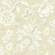 Beige/White/Silver Bohemian Wallcovering by York