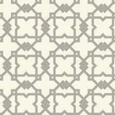 Off-white/Taupe/Dark Brown Trellis Wallcovering by York