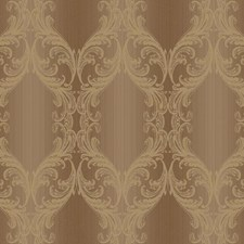 Brown/Gold Scroll Wallcovering by York