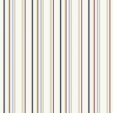 Primaries On White Stripes Wallcovering by York