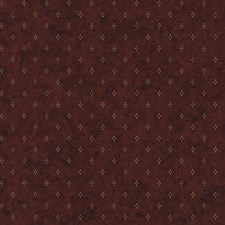 Maroon/Beige/Black Small Prints Wallcovering by York