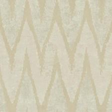 Cream/Pale Metallic Gold Chevron Wallcovering by York