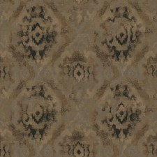 Taupe/Black/Metallic Copper Damask Wallcovering by York