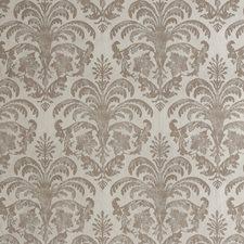 Silver/Taupe/Metallic Damask Wallcovering by Kravet Wallpaper