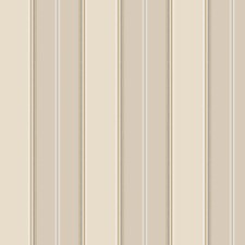 Cream/Light Taupe/White Stripes Wallcovering by York
