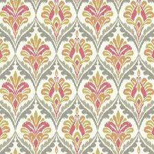 Cream/Taupe/Orange Geometrics Wallcovering by York