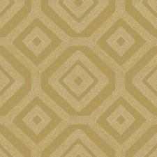 Metallic Gold/White Geometrics Wallcovering by York