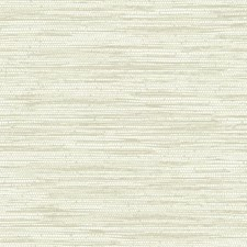 Cream/Greige Faux Grasscloth Wallcovering by York