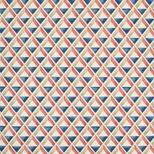 Red/Blue Geometric Wallcovering by Lee Jofa Wallpaper