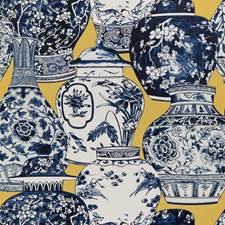 Maize/Blue Animal Wallcovering by Lee Jofa Wallpaper