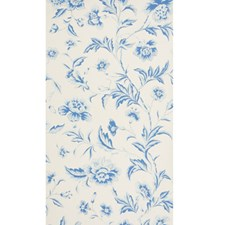 Blue Botanical Wallcovering by Brunschwig & Fils