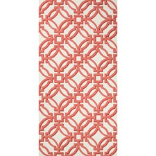 Red Lattice Wallcovering by Brunschwig & Fils