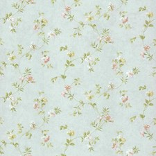 Pale Blue/Pink/White Floral Mini Wallcovering by York