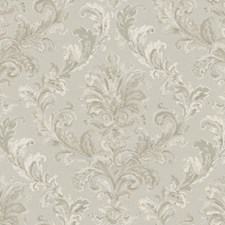 Silver Sheen/Cream/Pewter Acanthus Wallcovering by York
