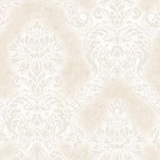 Ivory Damask Wallcovering by Brewster