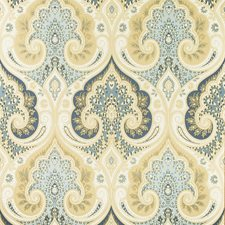 Indigo Damask Wallcovering by Baker Lifestyle Wallpaper