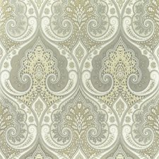 Stone/Silver Damask Wallcovering by Baker Lifestyle Wallpaper