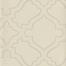 Cream/Metallic Silver Geometrics Wallcovering by York
