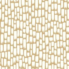 Metallic Gold/White Modern Wallcovering by York