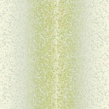Metallic Gray/Green/Cream Geometrics Wallcovering by York