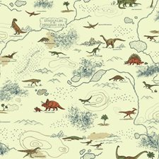 Cream/Brown/Dark Blue Animals Wallcovering by York