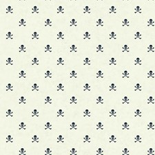 White/Dark Blue Children Wallcovering by York