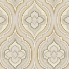 Cream/Beige/Grey Floral Wallcovering by York