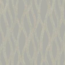 Grey/Cream/Gold Geometrics Wallcovering by York