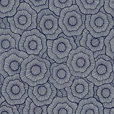 Medium Grey/Navy Blue Floral Wallcovering by York