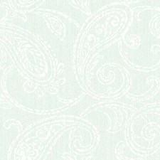 Aqua/Beige/Gold Paisley Wallcovering by York